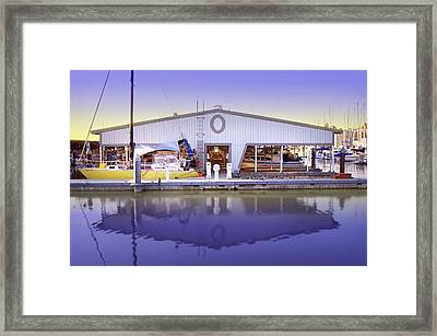 Framed Print featuring the photograph Boat House by Sonya Lang