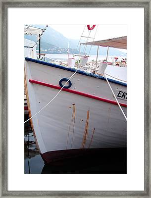 Boat Hull Framed Print by Tamyra Crossley