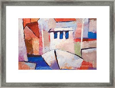 Boat Impasto Framed Print by Lutz Baar