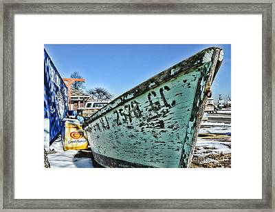 Boat - In A State Of Decay Framed Print by Paul Ward
