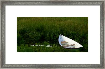 Framed Print featuring the photograph Boat In The Marsh by Caroline Stella