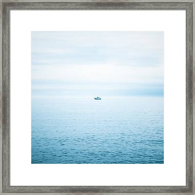 Fishing Boat  Framed Print by Tetyana Kokhanets