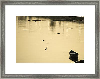 Boat In The Water Framed Print