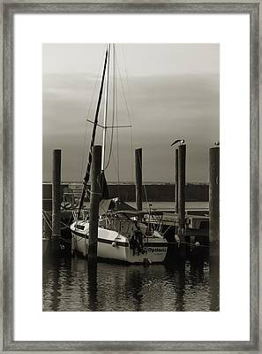 Boat Framed Print by Jennifer Burley
