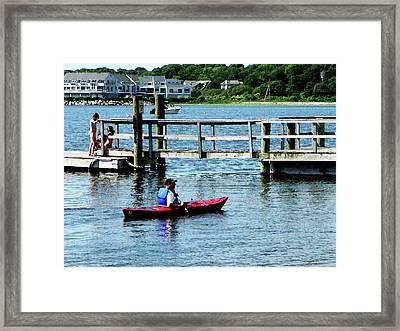 Boat - Kayaking At Bristol Ri Framed Print