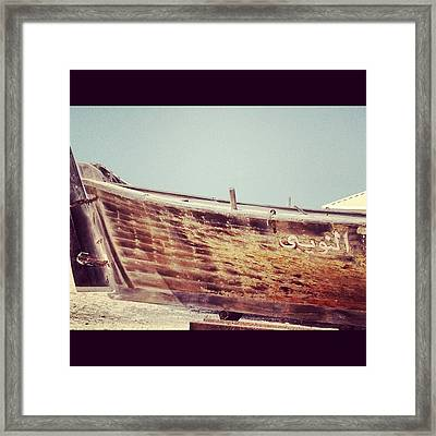 Boat Framed Print by Maeve O Connell