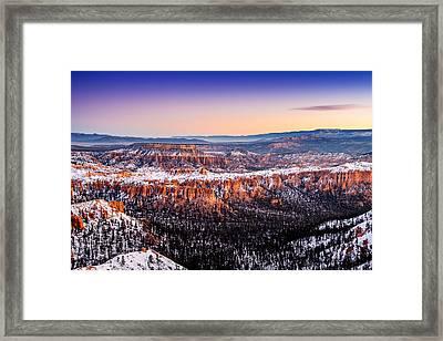Boat Mesa First Light Framed Print