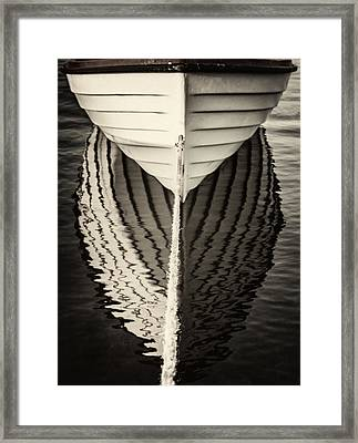Boat Mirrored Framed Print