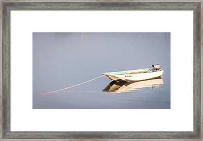 Boat Mooring Framed Print by Dawn Romine