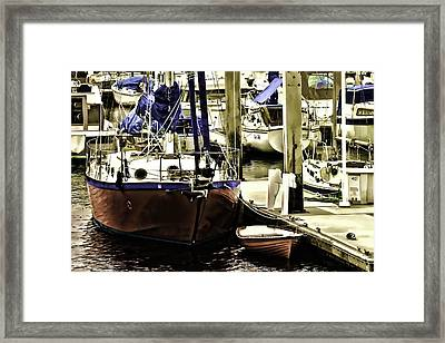 Framed Print featuring the painting Boat by Muhie Kanawati