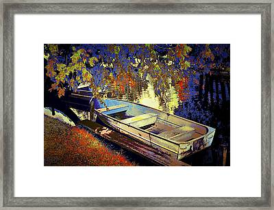 Boat Number 12 Framed Print by Randall Nyhof