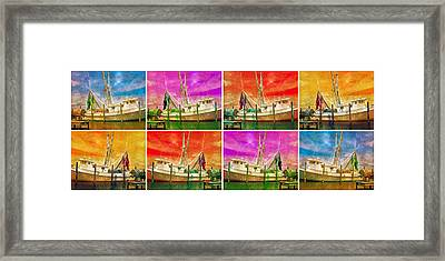 Boat Of A Different Color Framed Print by Betsy Knapp