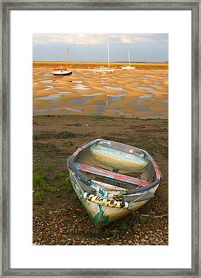 Boat Of Many Colours Framed Print
