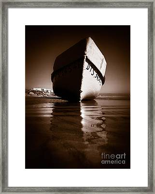 Boat On A Beach Framed Print