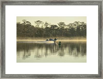 Boat On Apalachicola River Framed Print