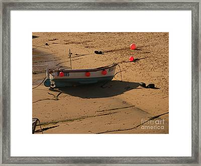 Boat On Beach 04 Framed Print by Pixel Chimp