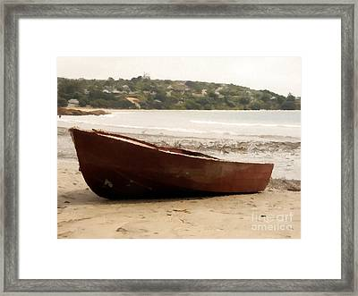 Boat On Shore 02 Framed Print by Pixel Chimp