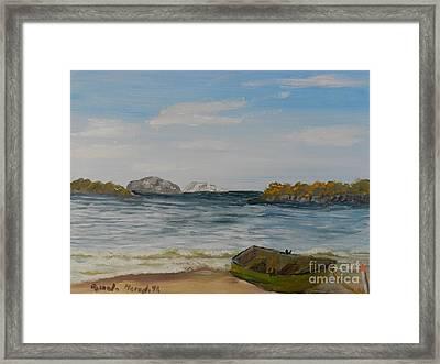 Boat On The Beach Framed Print