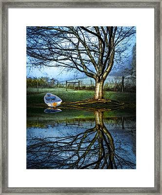 Boat On The Lake Framed Print