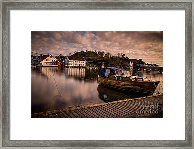 Boat On The River Framed Print by Mirra Photography