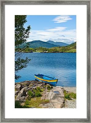 Boat On Upper Lake Killarney Framed Print