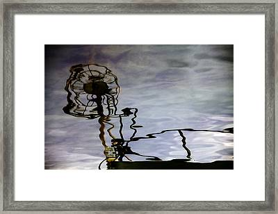 Boat Reflections Framed Print by Stelios Kleanthous