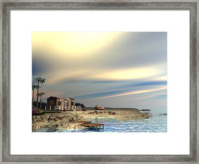 Boat Repair Framed Print by John Pangia