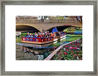 Framed Print featuring the photograph Boat Ride At The Riverwalk by Ricardo J Ruiz de Porras
