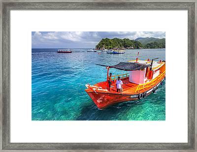 Boat Ride Framed Print by Mario Legaspi