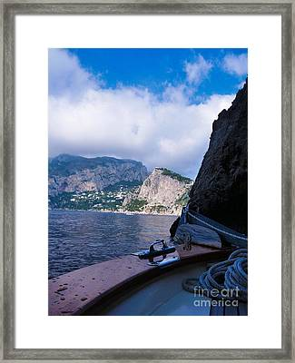 Framed Print featuring the photograph Boat Ride To Capri by Mike Ste Marie