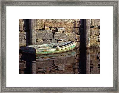 Boat Rockport Harbor Massachussetts Framed Print