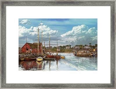 Boat - Rockport Mass - Motif Number One - 1906 Framed Print