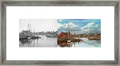 Boat - Rockport Mass - Motif Number One - 1906 - Side By Side Framed Print
