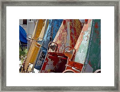 Boat Row Framed Print
