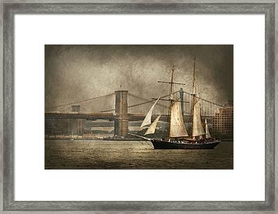 Boat - Sailing - Govenors Island Ny - Clipper City Framed Print