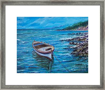 Boat Framed Print by Sinisa Saratlic