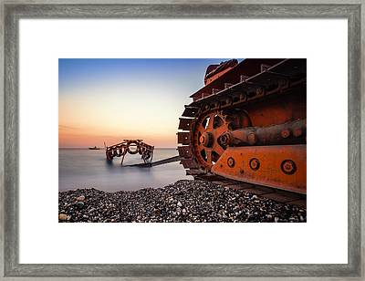 Boat Tractor Framed Print