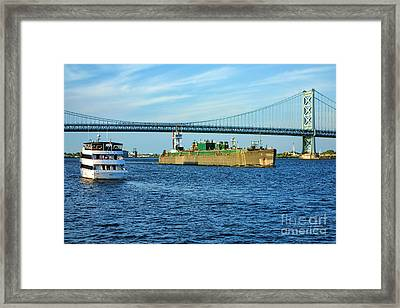 Boat Traffic Framed Print by Olivier Le Queinec