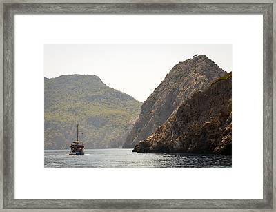 Framed Print featuring the photograph Boat Trip by David Isaacson