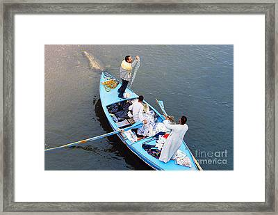 Framed Print featuring the photograph Boat Vendors by Cassandra Buckley