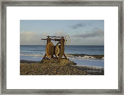 Boat Winch 1 Framed Print by Steev Stamford