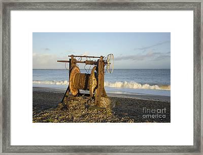 Boat Winch 2 Framed Print by Steev Stamford