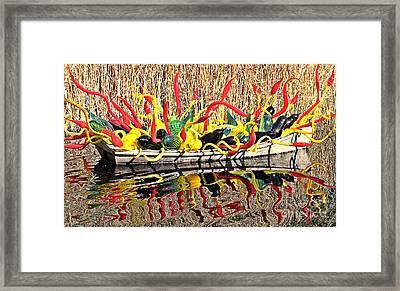 Boatful Of Art Framed Print by Elizabeth Winter