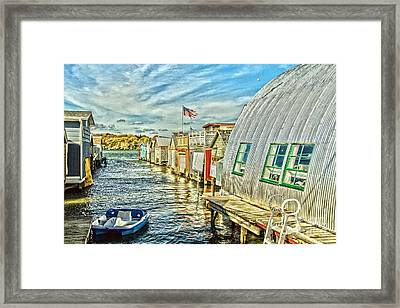 Boathouse Alley Framed Print