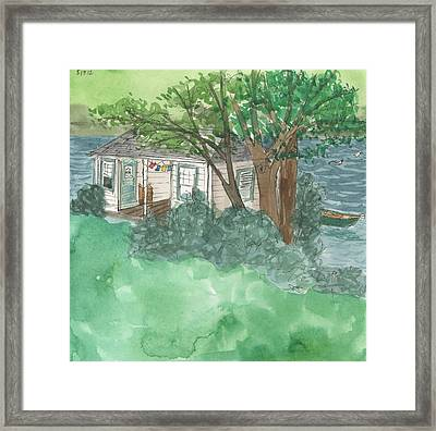 Boathouse At Ananda Framed Print