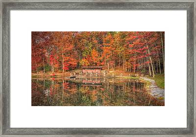 Boathouse At Boley Lake Framed Print