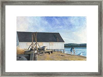 Boathouse At Lisabuela Beach Framed Print