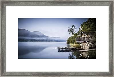 Boathouse At Pooley Bridge Framed Print