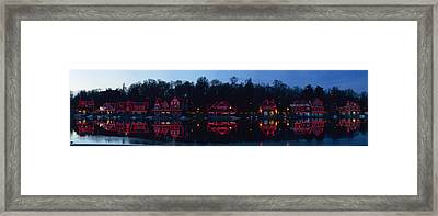 Boathouse At The Waterfront, Schuylkill Framed Print by Panoramic Images