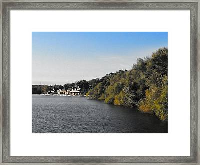 Framed Print featuring the photograph Boathouse II by Photographic Arts And Design Studio